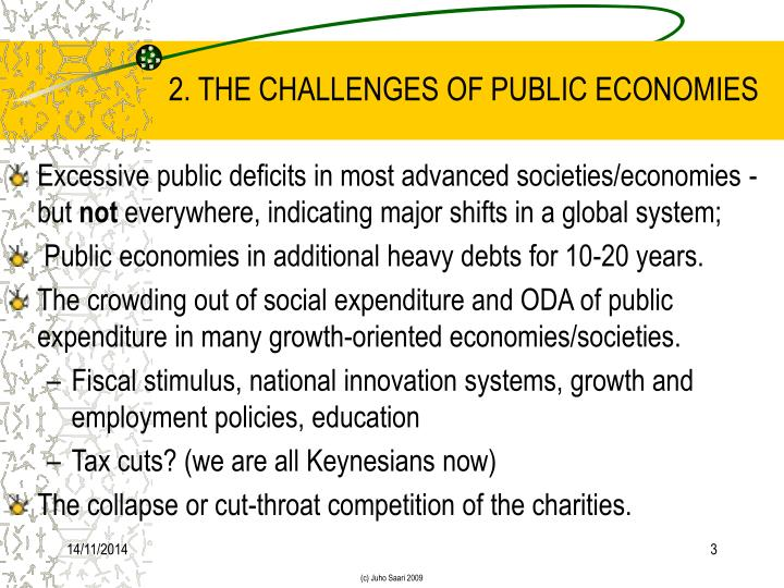 2 the challenges of public economies