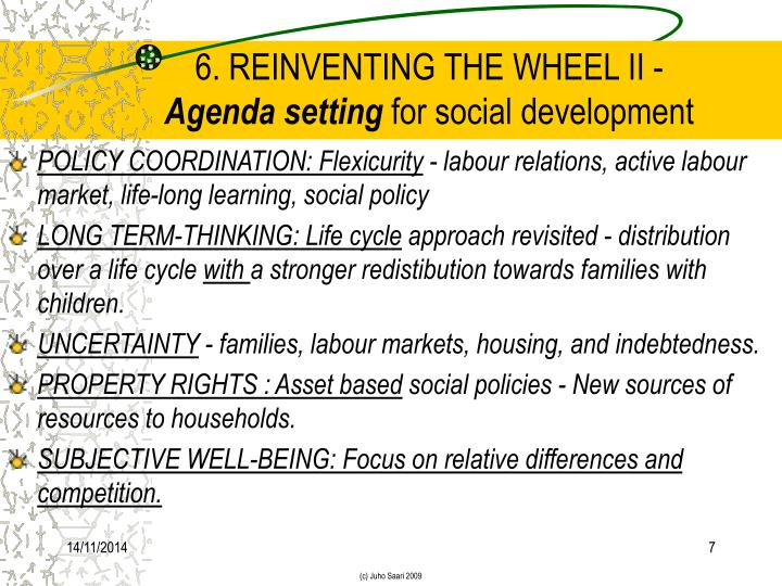 6. REINVENTING THE WHEEL II -
