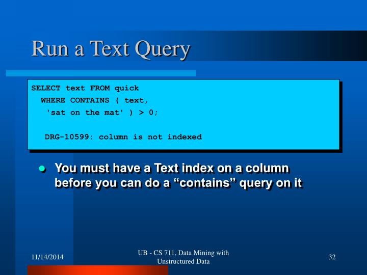 Run a Text Query