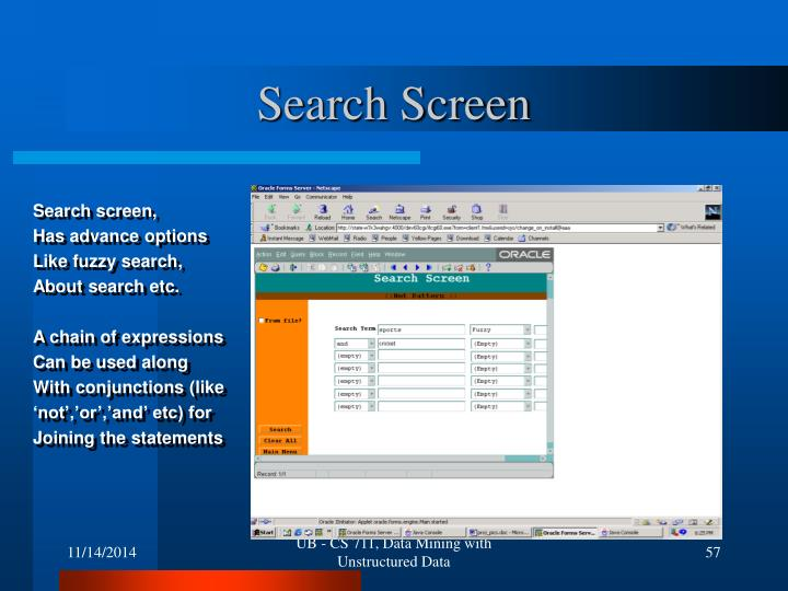 Search Screen