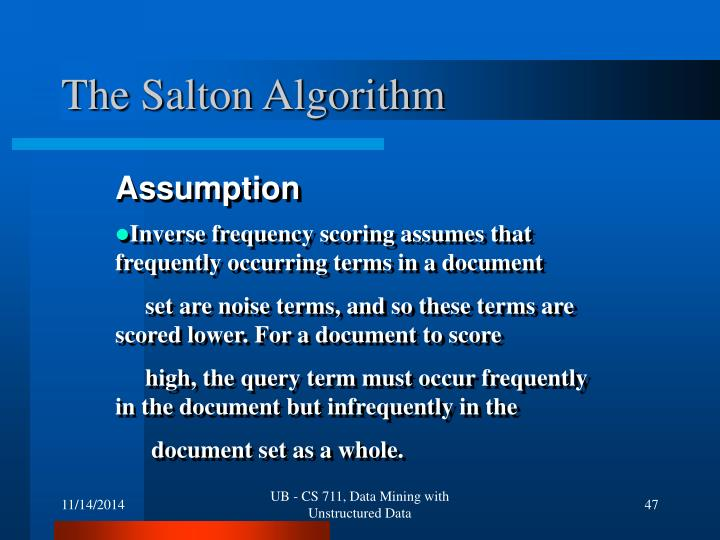 The Salton Algorithm