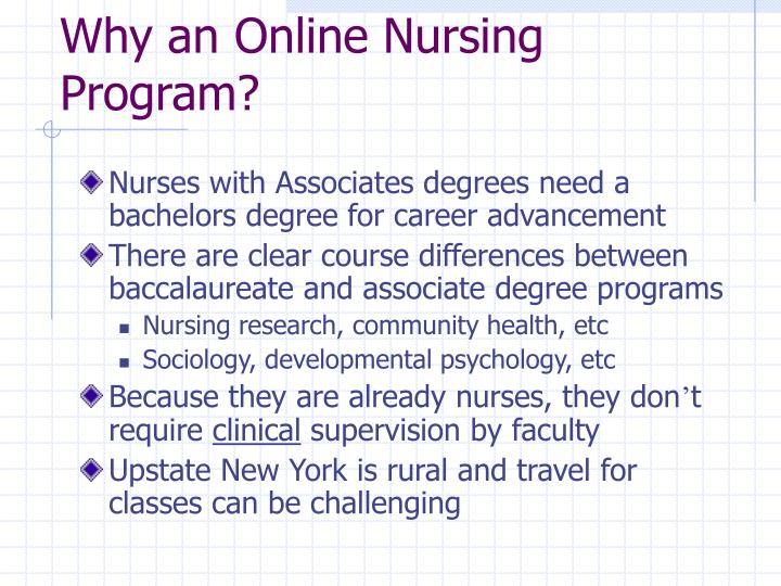 Why an Online Nursing Program?