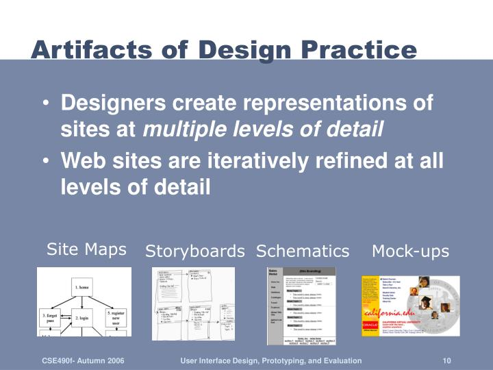 Artifacts of Design Practice