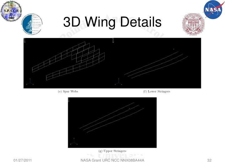 3D Wing Details