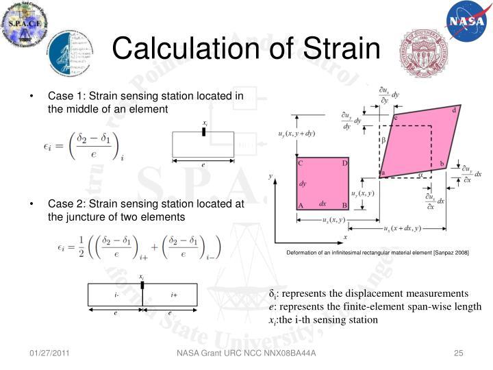 Calculation of Strain
