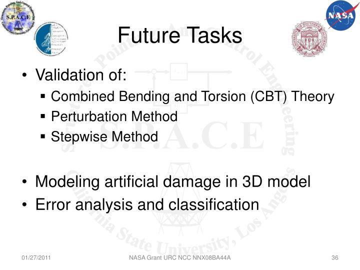 Future Tasks