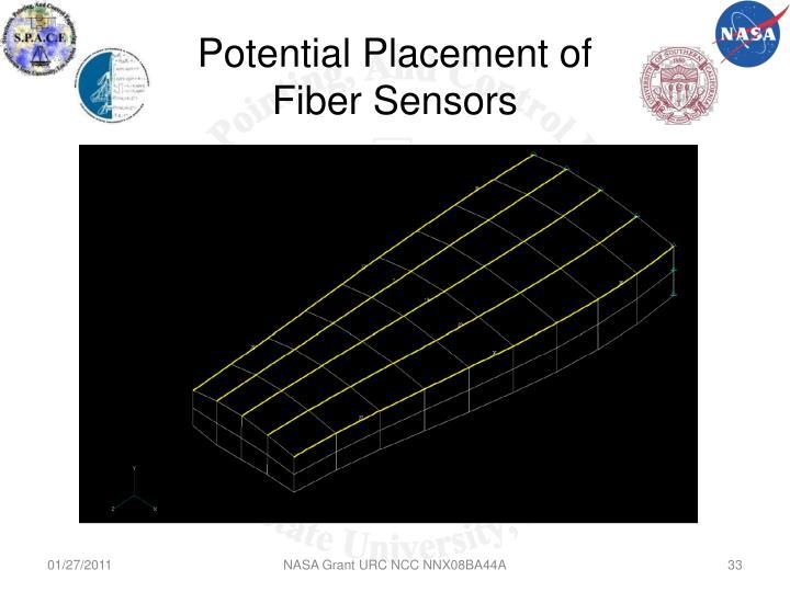 Potential Placement of Fiber Sensors
