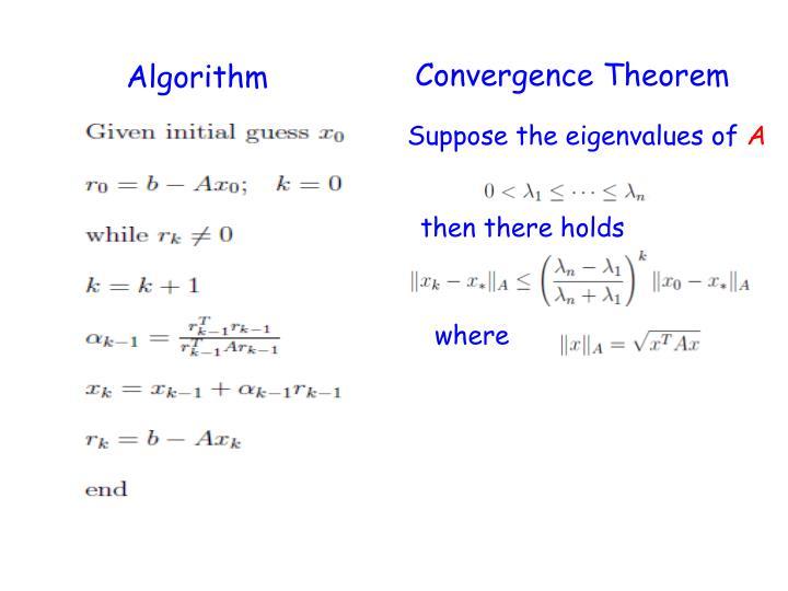 Convergence Theorem