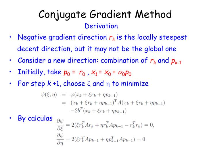 Conjugate Gradient Method