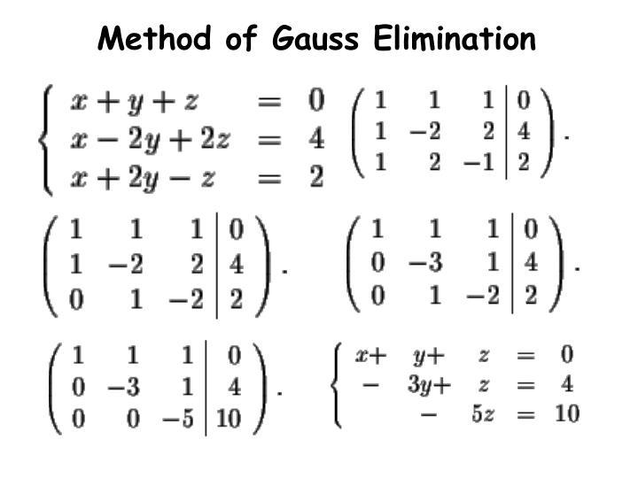 Method of Gauss Elimination