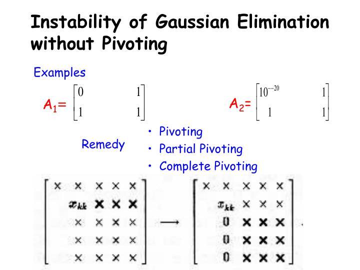 Instability of Gaussian Elimination