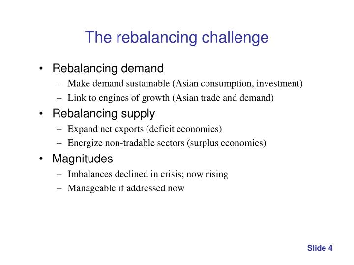 The rebalancing challenge