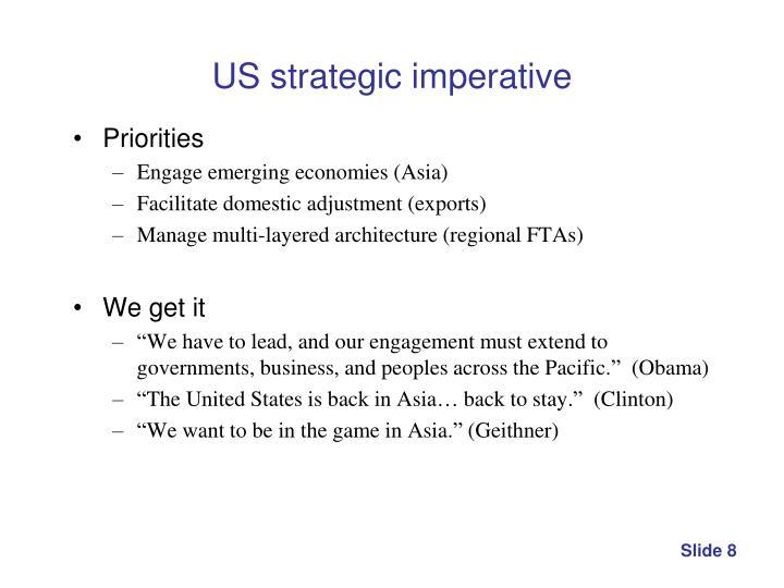 US strategic imperative
