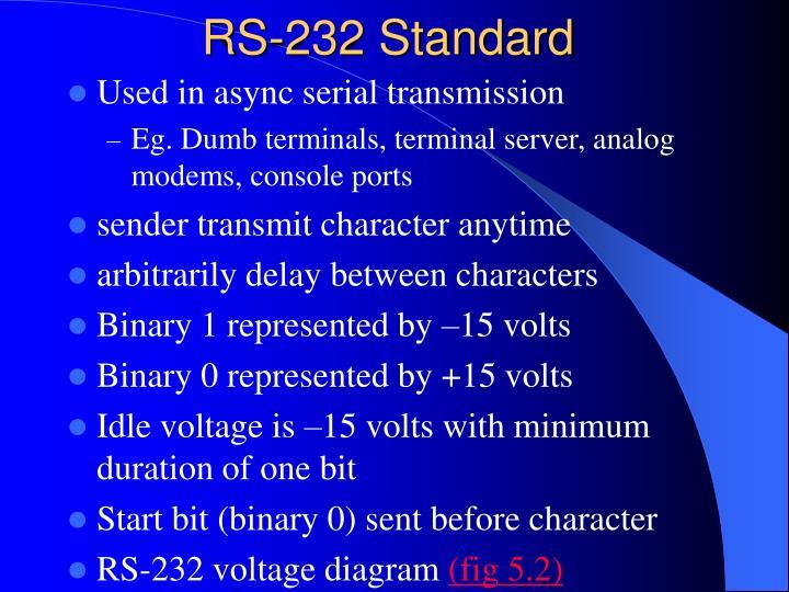 RS-232 Standard