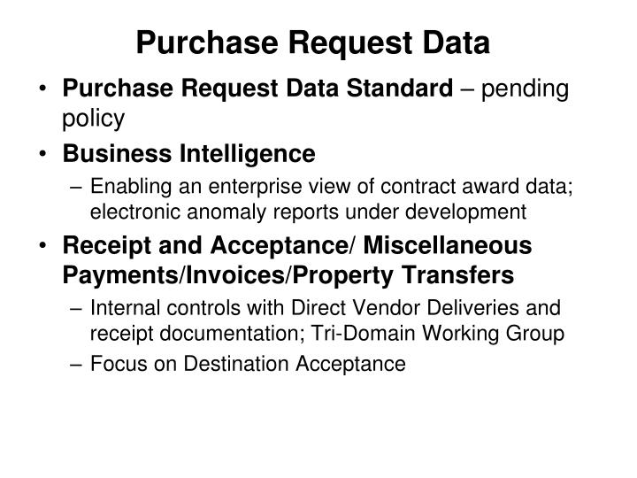 Purchase Request Data