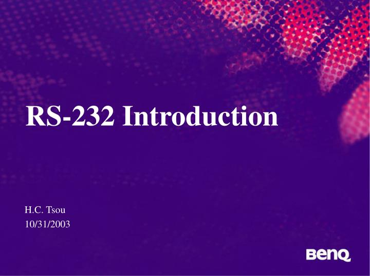 Rs 232 introduction