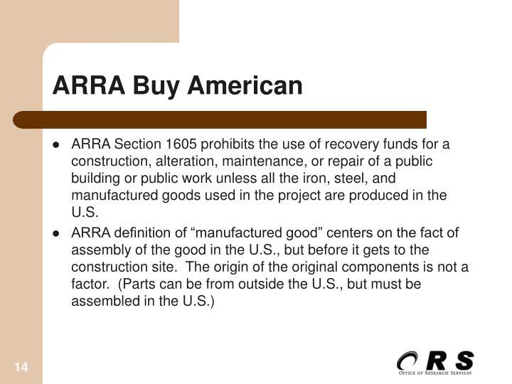 ARRA Buy American