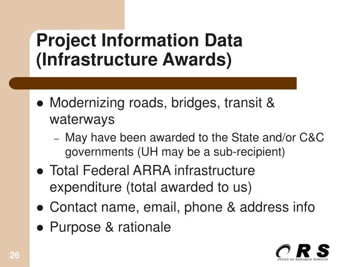 Project Information Data (Infrastructure Awards)