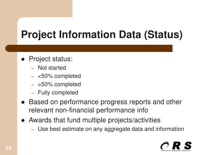 Project Information Data (Status)