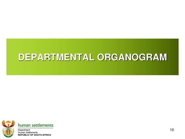 DEPARTMENTAL ORGANOGRAM
