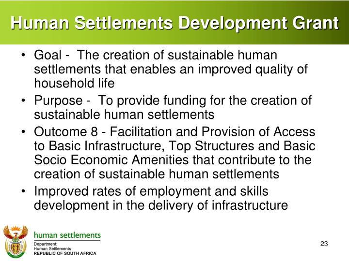 Human Settlements Development Grant