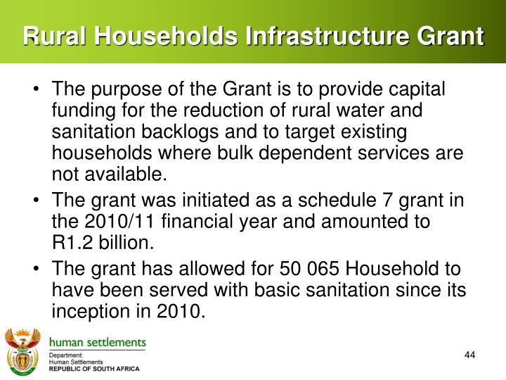 Rural Households Infrastructure Grant