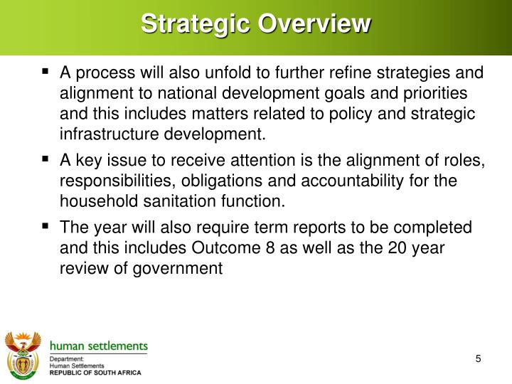 Strategic Overview