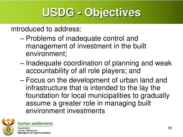 USDG - Objectives