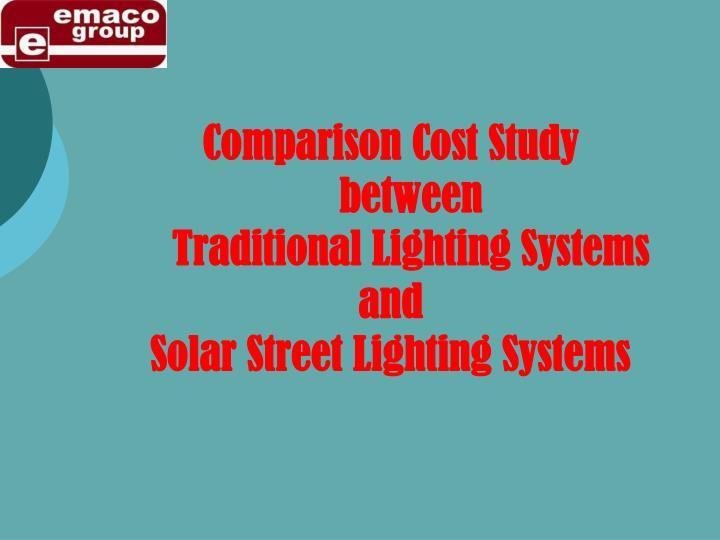 Comparison Cost Study