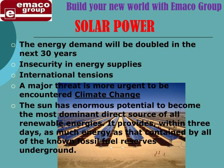 Build your new world with Emaco Group