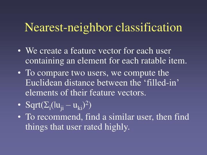 Nearest-neighbor classification