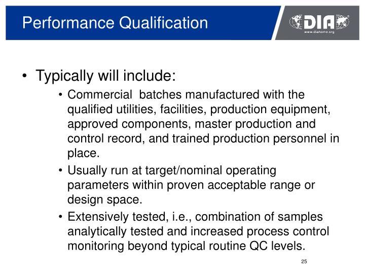 Performance Qualification