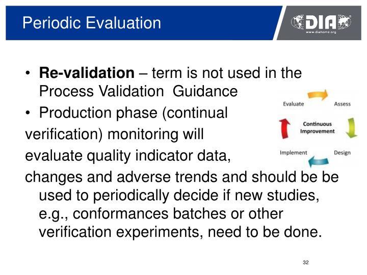 Periodic Evaluation