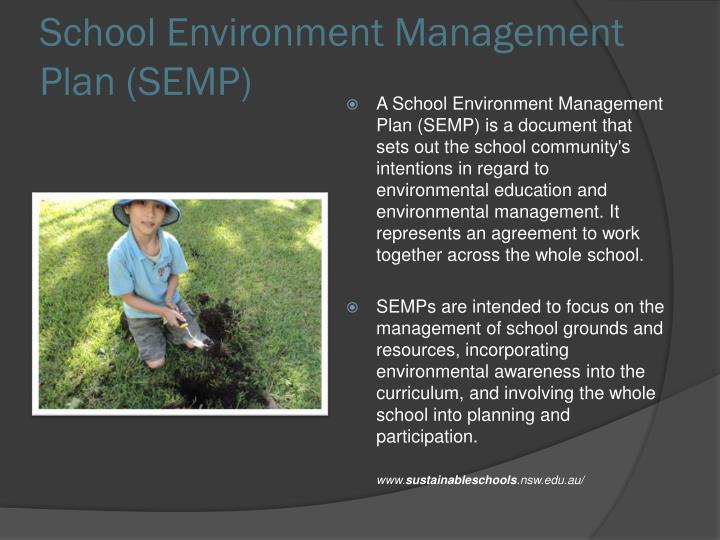 School Environment Management Plan (SEMP)
