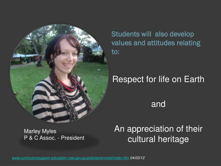 Students will  also develop