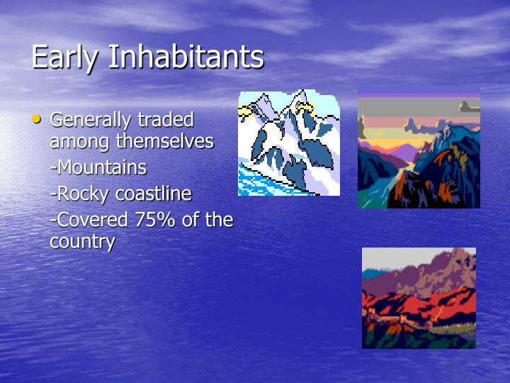 Early Inhabitants