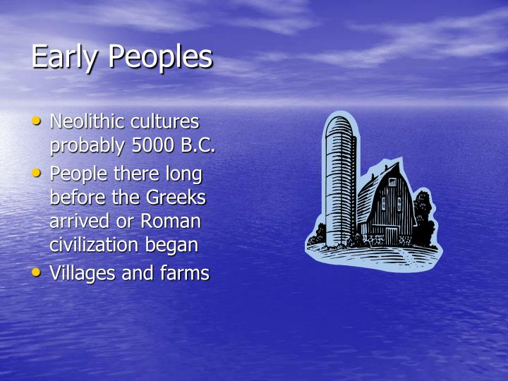Early Peoples