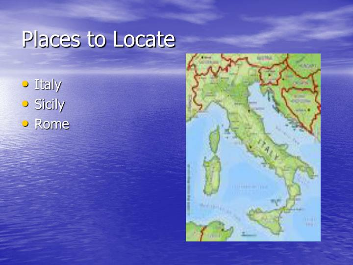 Places to Locate