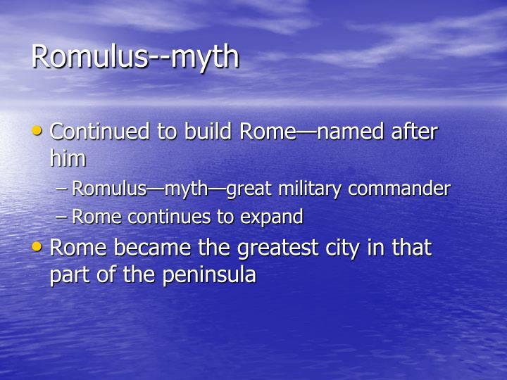 Romulus--myth