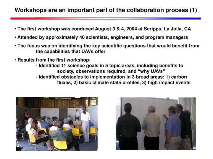 Workshops are an important part of the collaboration process (1)