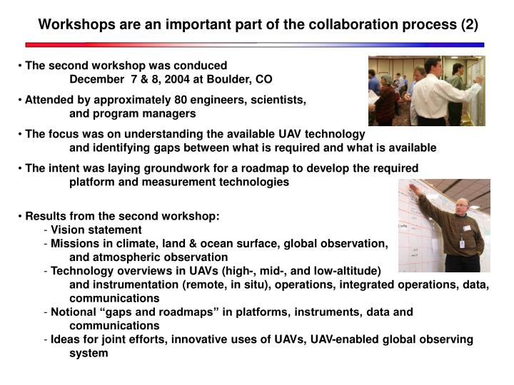 Workshops are an important part of the collaboration process (2)