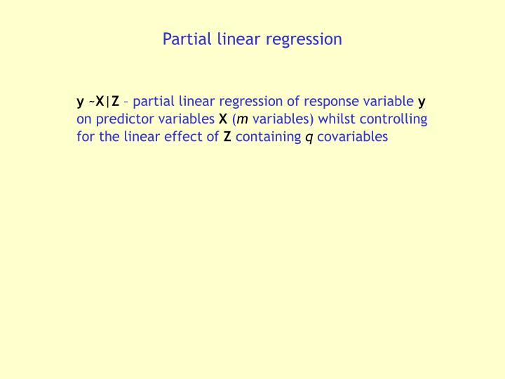 Partial linear regression