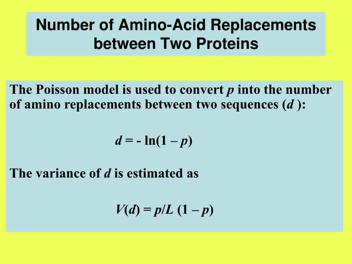Number of Amino-Acid Replacements between Two Proteins