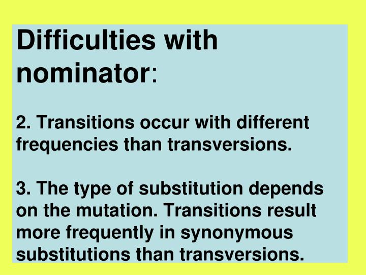 Difficulties with nominator