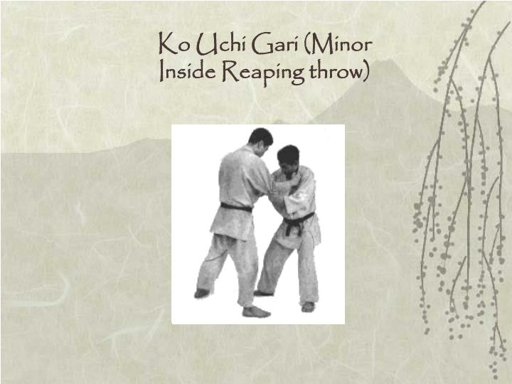 Ko Uchi Gari (Minor Inside Reaping throw)