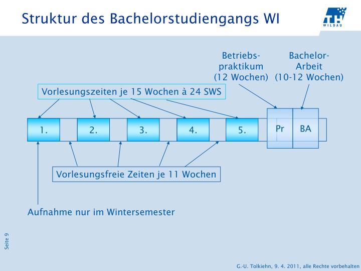 Struktur des Bachelorstudiengangs WI