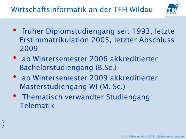 Wirtschaftsinformatik an der TFH Wildau