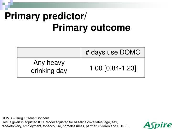 Primary predictor/