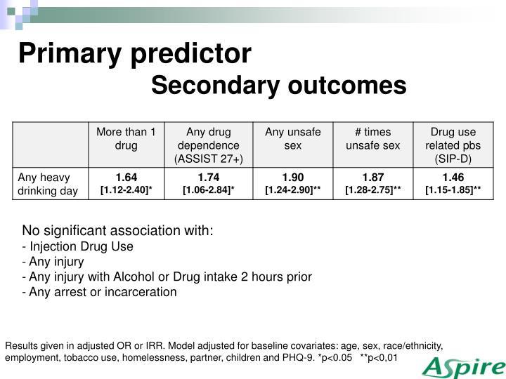 Primary predictor