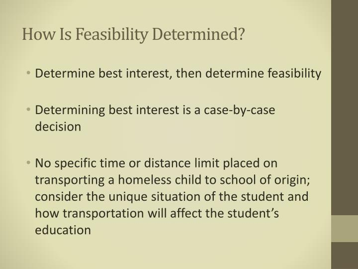 How Is Feasibility Determined?